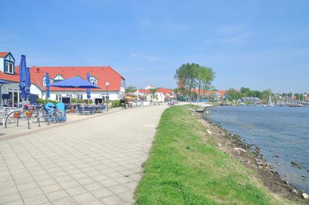 mecklenburg western pomerania: Promenade of Rerik at Baltic Sea,Mecklenburg Western Pomerania,Germany