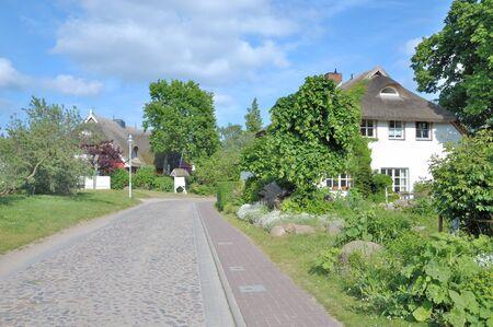 mecklenburg western pomerania: idyllic Village of Gross Zicker on Ruegen Island at Baltic Sea,Mecklenburg western Pomerania,Germany