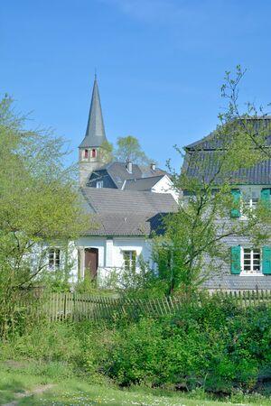 rhine westphalia: Village of Haan Gruiten in Neandertal Valley near Duesseldorf Mettmann,North Rhine Westphalia,Germany