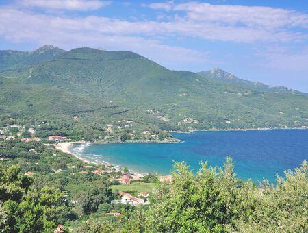 elba: View to Village of Procchio on Elba island,mediterranean Sea,Tuscany,Italy Stock Photo
