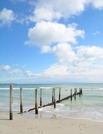 mecklenburg western pomerania: Beach of Juliusruh on Ruegen Island at baltic Sea,Mecklenburg western Pomerania,Germany Stock Photo