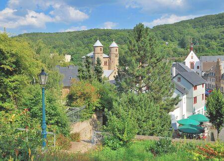 rhine westphalia: medieval Village of Bad Muenstereifel in Eifel,North Rhine Westphalia,Germany