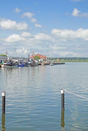 mecklenburg western pomerania: Harbor of Karlshagen on Usedom Island at baltic Sea,Mecklenburg western Pomerania,Germany Stock Photo