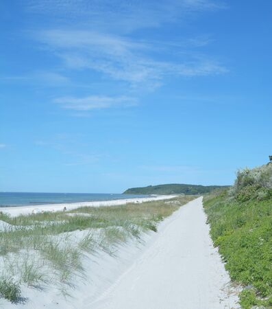 mecklenburg western pomerania: Beach near Vitte and Kloster on Hiddensee Island at baltic Sea,Germany
