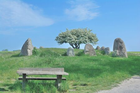 mecklenburg western pomerania: Megalithic Tomb from Neolithic Age near Nobbin on Ruegen Island,Germany