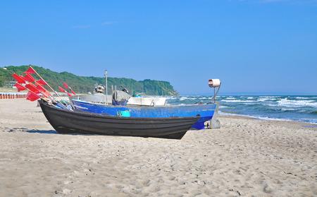 Beach of Baabe on Ruegen Island at Baltic Sea in Mecklenburg western Pomerania,Germany