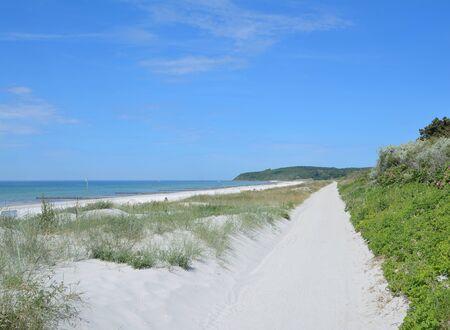 mecklenburg western pomerania: Beach of Vitte on Hiddensee Island at baltic Sea,Mecklenburg western Pomerania,Germany Stock Photo