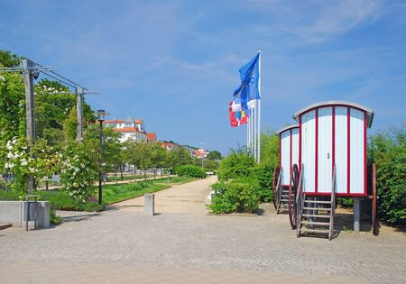 mecklenburg western pomerania: Promenade of Bansin on Usedom Island at baltic Sea,Germany Stock Photo