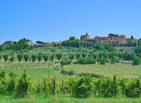umbria: medieval Village of Orvieto in Umbria,Italy