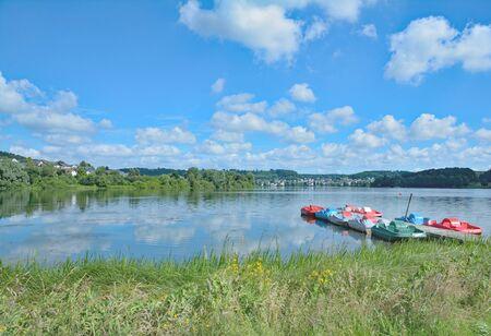 popular: popular Lake Wiesensee in Westerwald,Rhineland-Palatinate,Germany
