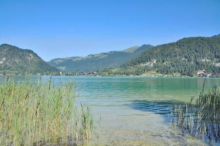 tirol: at Lake Walchsee near Village of Koessen in Tirol,Alps,Austria