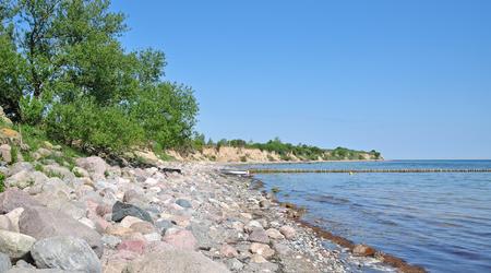 mecklenburg western pomerania: Coastal Landscape in Boltenhagen at baltic Sea,Mecklenburg western Pomerania,Germany