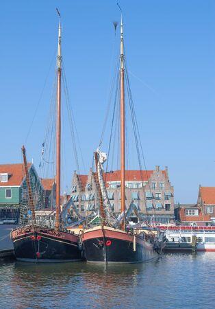 Harbor of Volendam at Ijsselmeer in Netherlands,Benelux