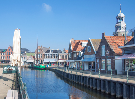 Village of Lemmer at Ijsselmeer in Frisia,Netherlands