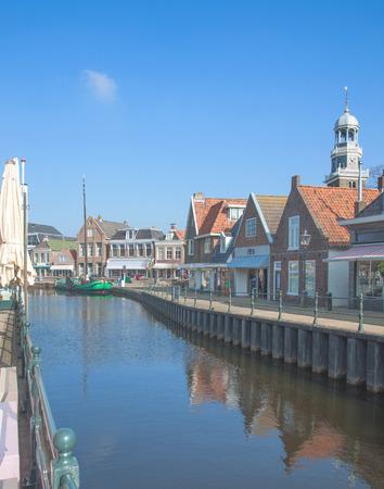 lemmer: Village of Lemmer at Ijsselmeer in Netherlands, Benelux Stock Photo