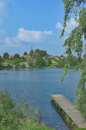 mecklenburg western pomerania: Village of Wustrow in Mecklenburg Lake District,Mecklenburg western Pomerania,Germany Stock Photo