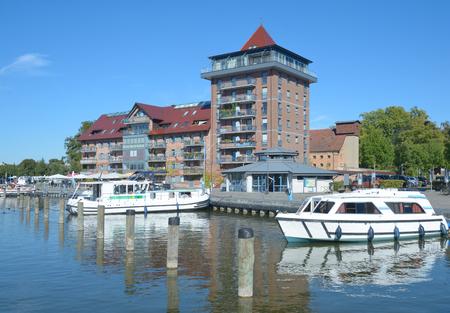 Harbor of Neustrelitz in Mecklenburg Lake District,Germany Stock Photo