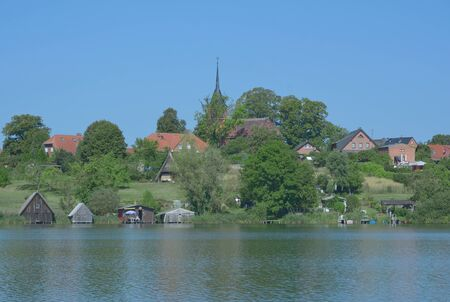mecklenburg: Village of Wustrow in Mecklenburg Lake District,Mecklenburg western Pomerania,Germany Stock Photo