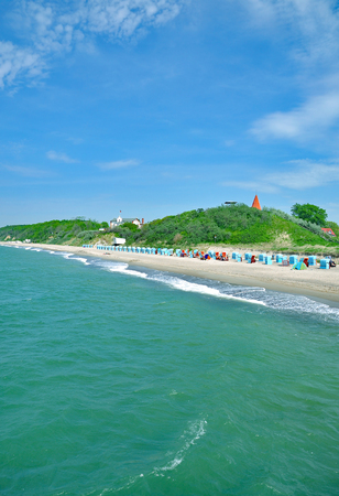 mecklenburg western pomerania: Beach of Rerik at baltic Sea in Mecklenburg western Pomerania,Germany