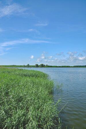 mecklenburg western pomerania: River Peene near Karlshagen and Peenemuende on Usedom Island,baltic Sea,Mecklenburg western Pomerania,Germany Stock Photo