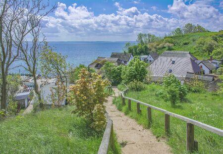 Village of Vitt near Kap Arkona on Ruegen Island at baltic Sea,Germany