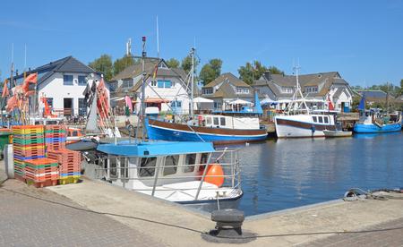 mecklenburg western pomerania: Harbor of Vitte on Hiddensee Island at baltic Sea,Mecklenburg western Pomerania,Germany