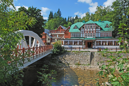 Village of Spindleruv Mlyn in Krkonose Mountains,Czech Republic