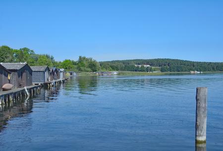mecklenburg western pomerania: Lake Woblitzsee near Wesenberg in Mecklenburg Lake District,Germany Stock Photo