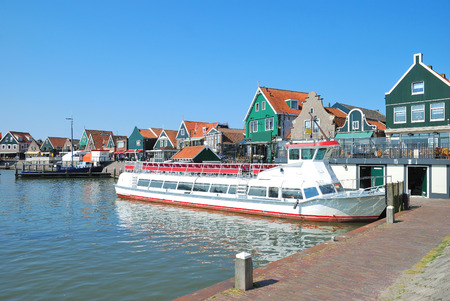 Harbor of Edam-Volendam at Ijsselmeer,Netherlands Stock Photo