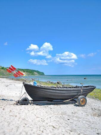 Beach of Goehren at Kap Nordperd on Ruegen Island,baltic Sea,Germany