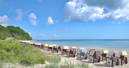 mecklenburg western pomerania: Beach of Sellin on Ruegen Island,baltic Sea,Mecklenburg western Pomerania,Germany