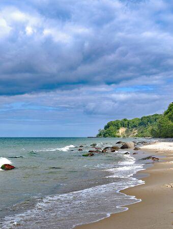 Beach at Kap Nordperd in Goehren on Ruegen Island,baltic Sea,Mecklenburg western Pomerania,Germany
