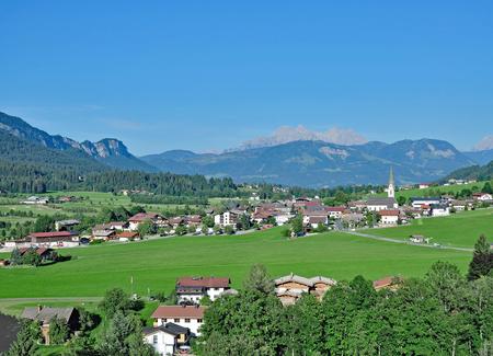 Village of Ellmau am Wilden Kaiser, Tirol, Austria