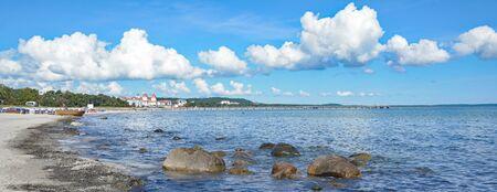 mecklenburg western pomerania: Beach of Binz at Baltic Sea, Mecklenburg-Vorpommern, Germany