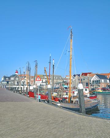 Harbor of Urk at Ijsselmeer,Netherlands