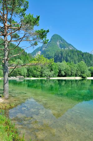 at Lake Jasna in Triglav National Park,Slovenia Stock Photo