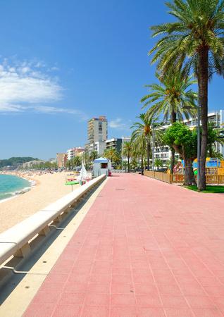 Promenade of Lloret de Mar at Costa Brava,Catalonia,Spain