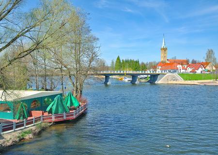 popular Village of Mikolajki in Masuria,Poland Stock Photo