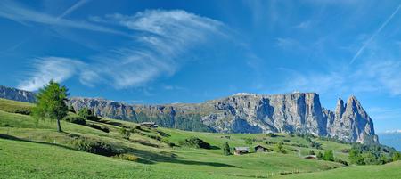 Seiser Alm and Mount Schlern,South Tirol,Trentino Alto Adige,Italy