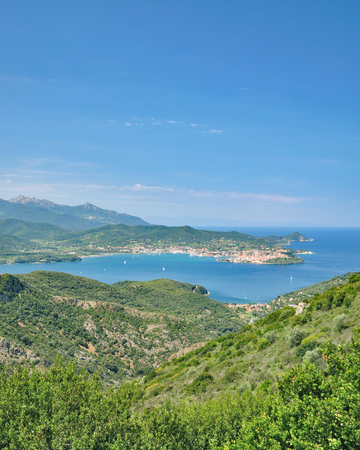Gulf of Portoferraio on Island of Elba,mediterranean Sea,Tuscany,Italy
