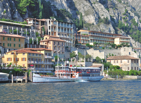 Limone sul Garda at Lake Garda,Lombardy,Italy Stock Photo