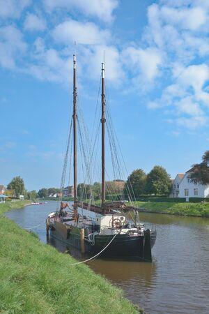 Village of Carolinensiel in East Frisia,North sea,lower Saxony,Germany