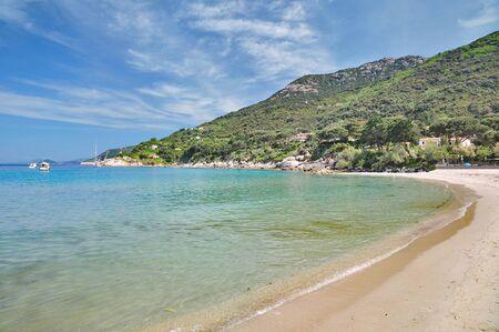 Beach of Sant Andrea on Elba,mediterranean Sea,Tuscany,Italy