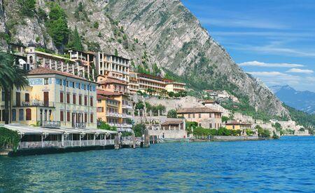 popular Village of Limone sul Garda at Lake Garda,Lombardy,Italy
