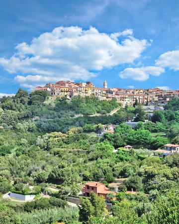 Mountain Village of Capoliveri on Island of Elba,Tuscany,Italy