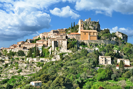 medieval Village of Eze at french Riviera near Monaco,France