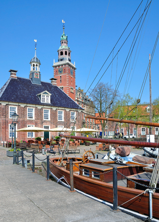 Old Scales and Town Hall of Leer,East Frisia,North Sea,Germany