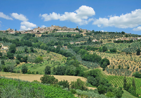 Village of Montefalco in Umbria near Assisi and Perugia,Italy Stock Photo