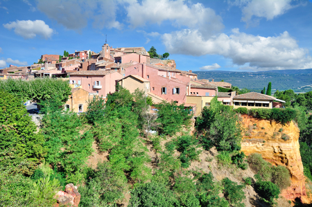 famous Village of Roussillon in Provence,France