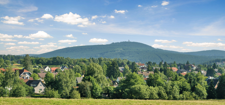 panoramic View of Braunlage in Harz Mountain,lower saxony,Germany Standard-Bild - 101015883